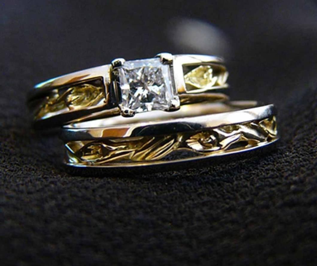 Wedding Rings : Stunning Unique Wedding Rings Trio Wedding Ring Within Unique Wedding Rings Sets (View 13 of 15)