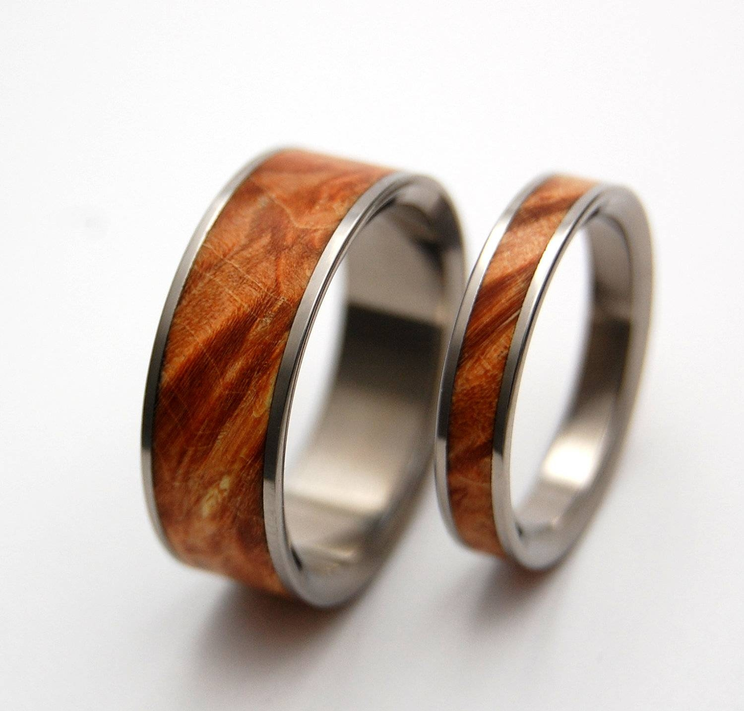 Wedding Rings Titanium Rings Wood Rings Mens Rings Inside Wood Grain Men's Wedding Bands (View 14 of 15)