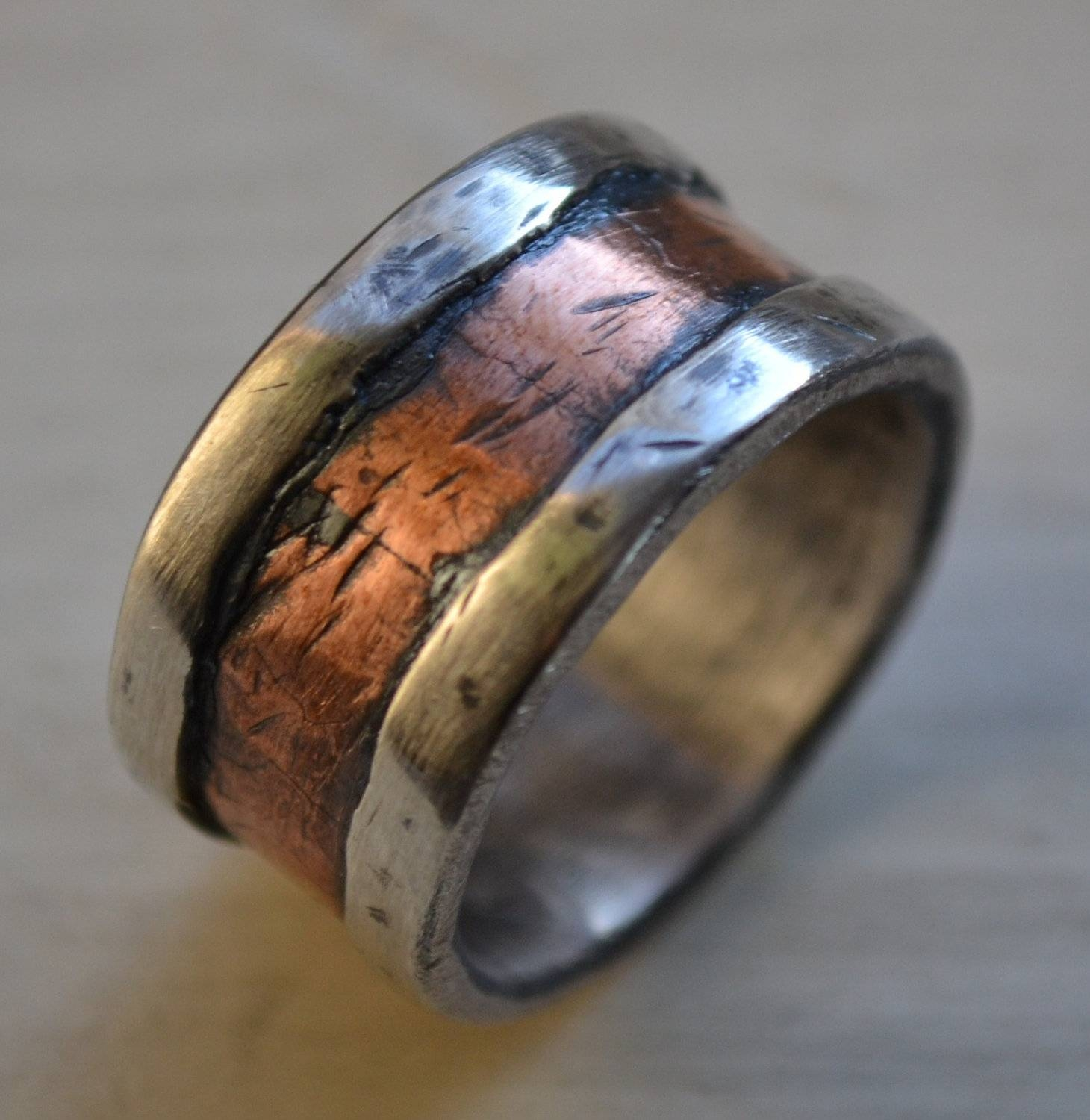 Wedding Rings : Unique Mens Wedding Bands Diamond The Various With Creative Mens Wedding Rings (View 13 of 15)