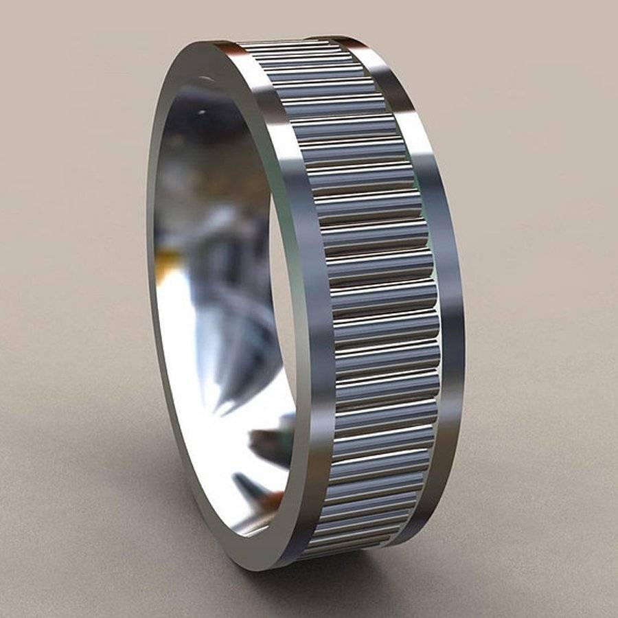 Wedding Rings : Unique Mens Wedding Bands White Gold The Various With Creative Mens Wedding Rings (View 15 of 15)