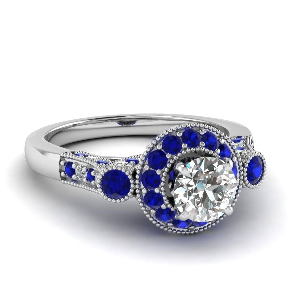 Wedding Rings : Vintage Engagement Ring And Wedding Band Choosing Regarding Vintage Sapphire Wedding Bands (View 15 of 15)