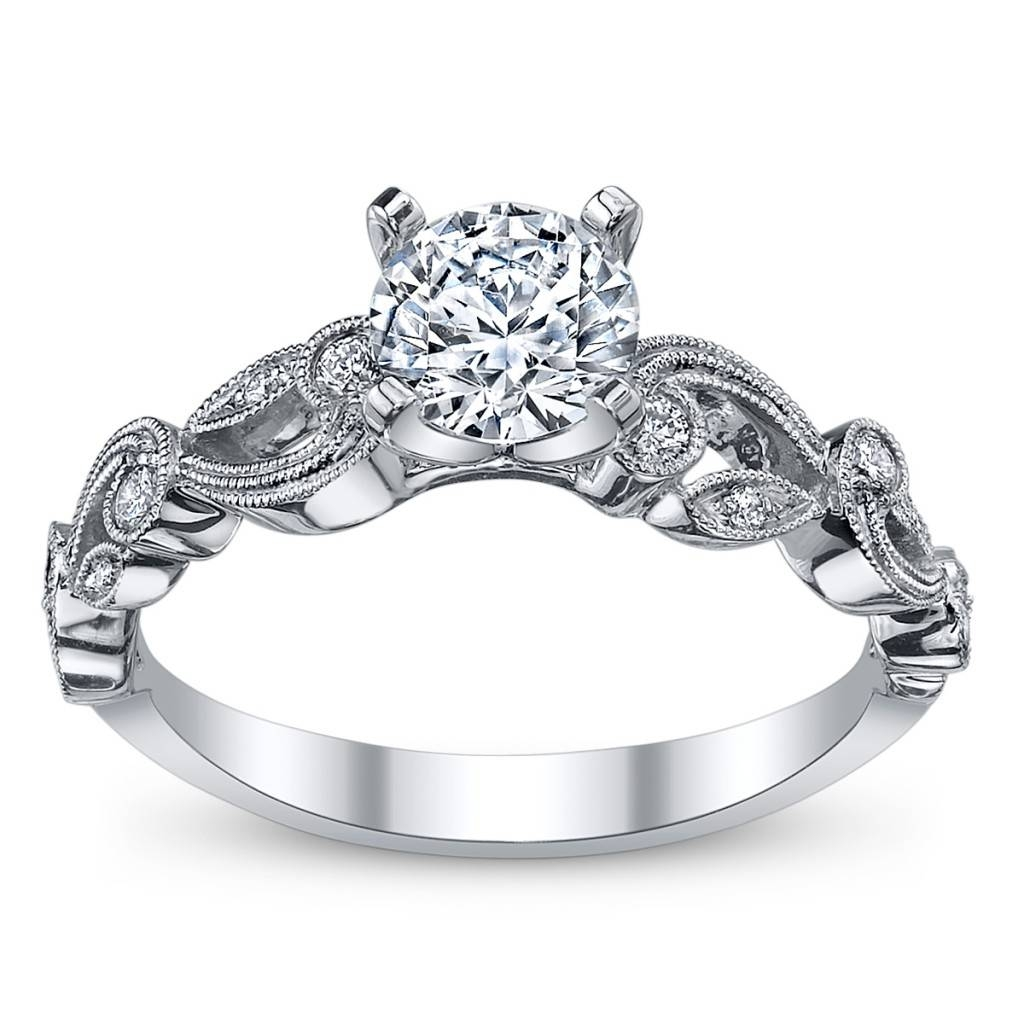 Wedding Rings : Vintage Engagement Ring And Wedding Band Choosing With Old Fashioned Style Wedding Rings (View 7 of 15)