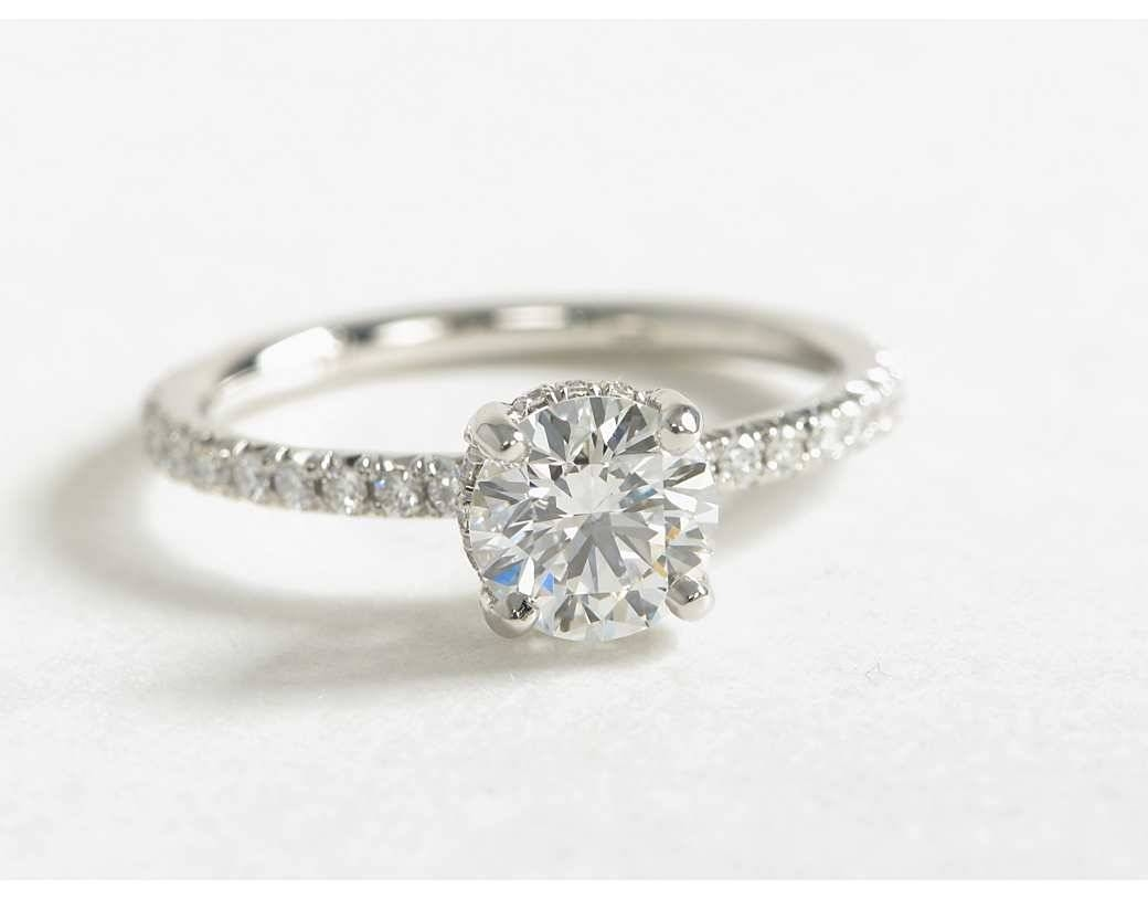 Wedding Rings : Wedding Band Pave Diamond Pave Ring Diamond Round Inside Crown Style Engagement Rings (View 8 of 15)