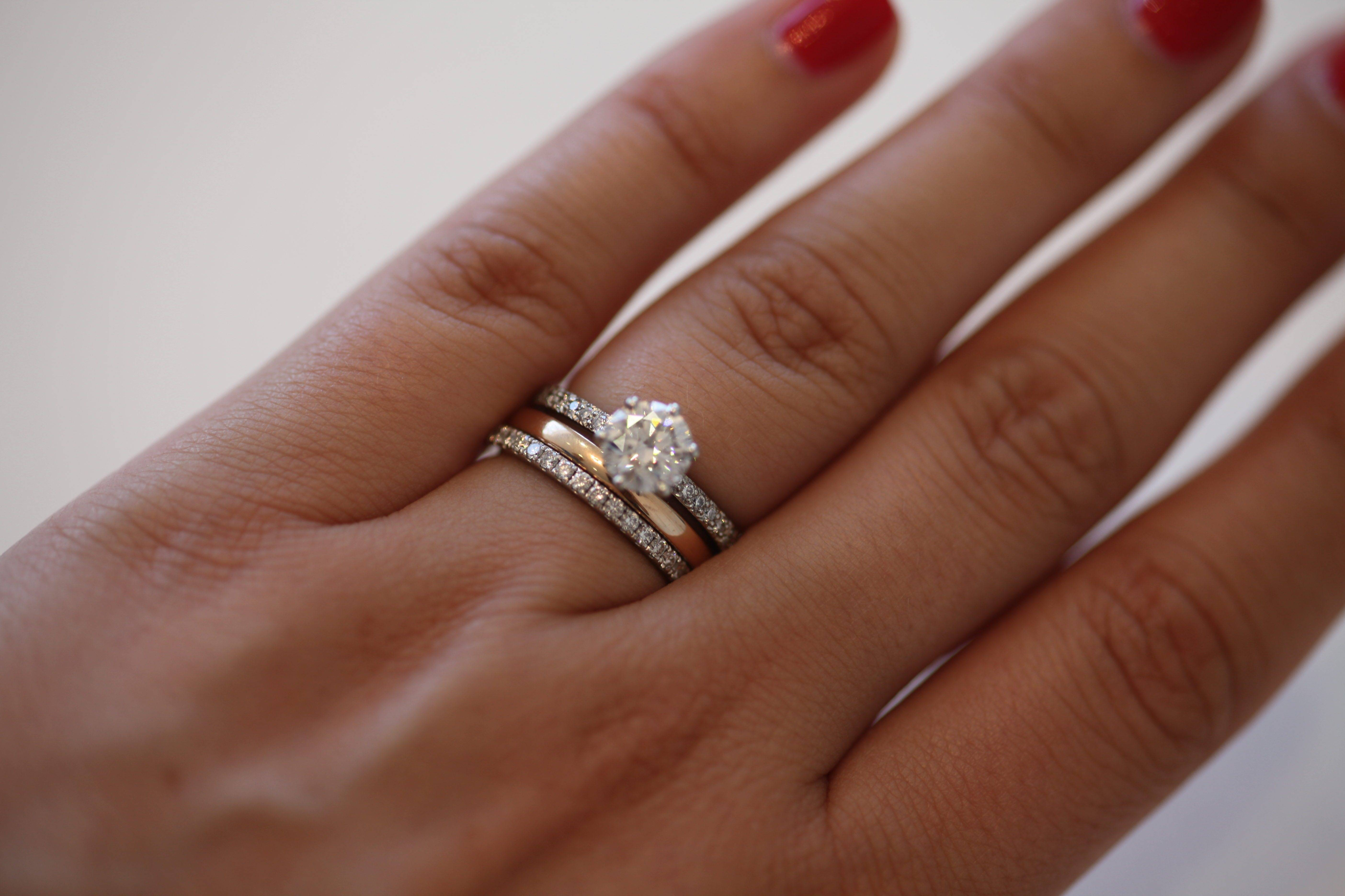 Wedding Rings : Wedding Band That Goes Around Engagement Ring Regarding Wedding Engagement Bands (View 15 of 15)