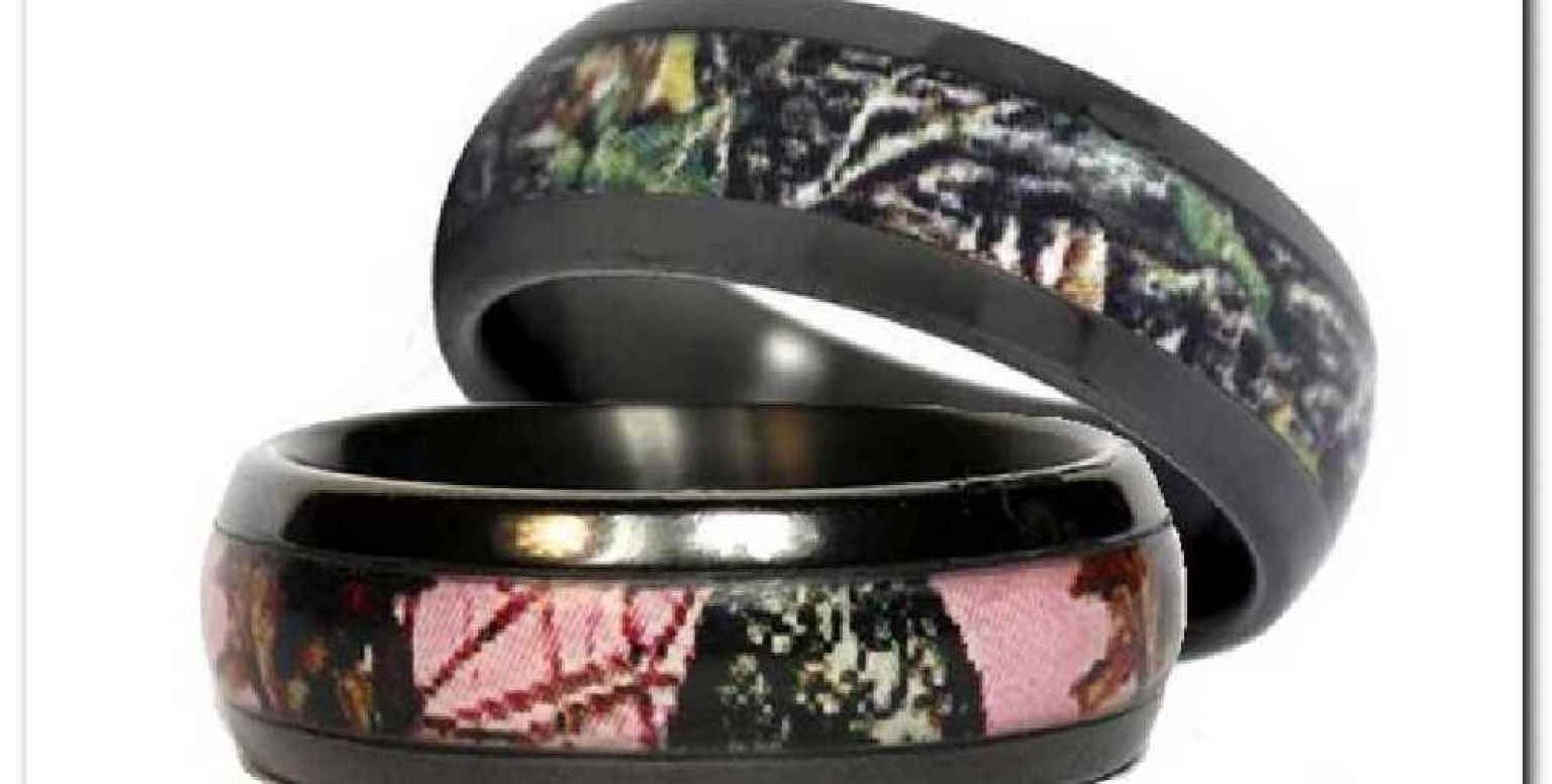 2018 popular his and hers camo wedding bands for Wedding ring sets for her
