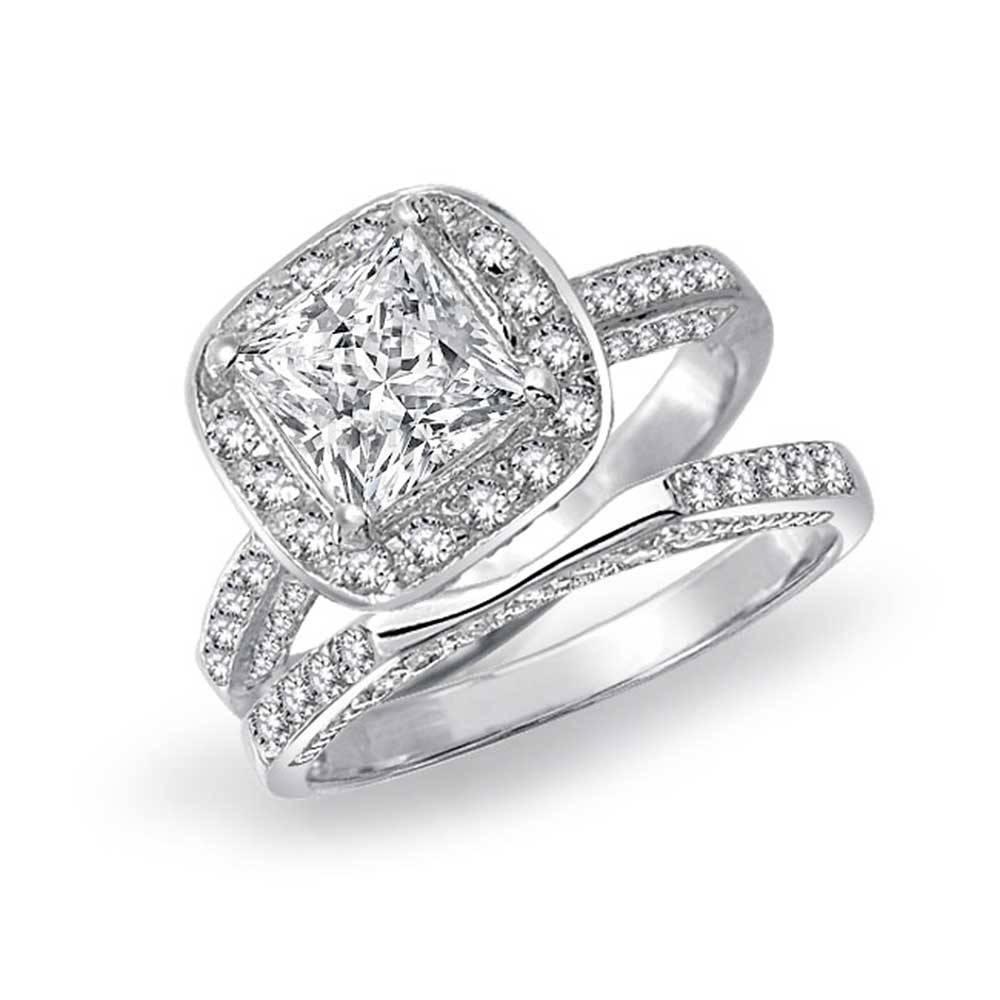 Wedding Rings : Wedding Ring Engagement Ring Set Bridal Wedding In Interlocking Engagement Rings And Wedding Band (View 12 of 15)