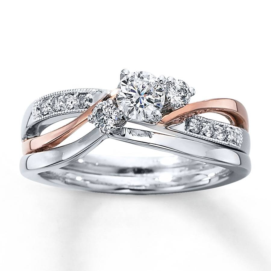 Photo Gallery of Interlocking Engagement Rings Wedding Band Viewing
