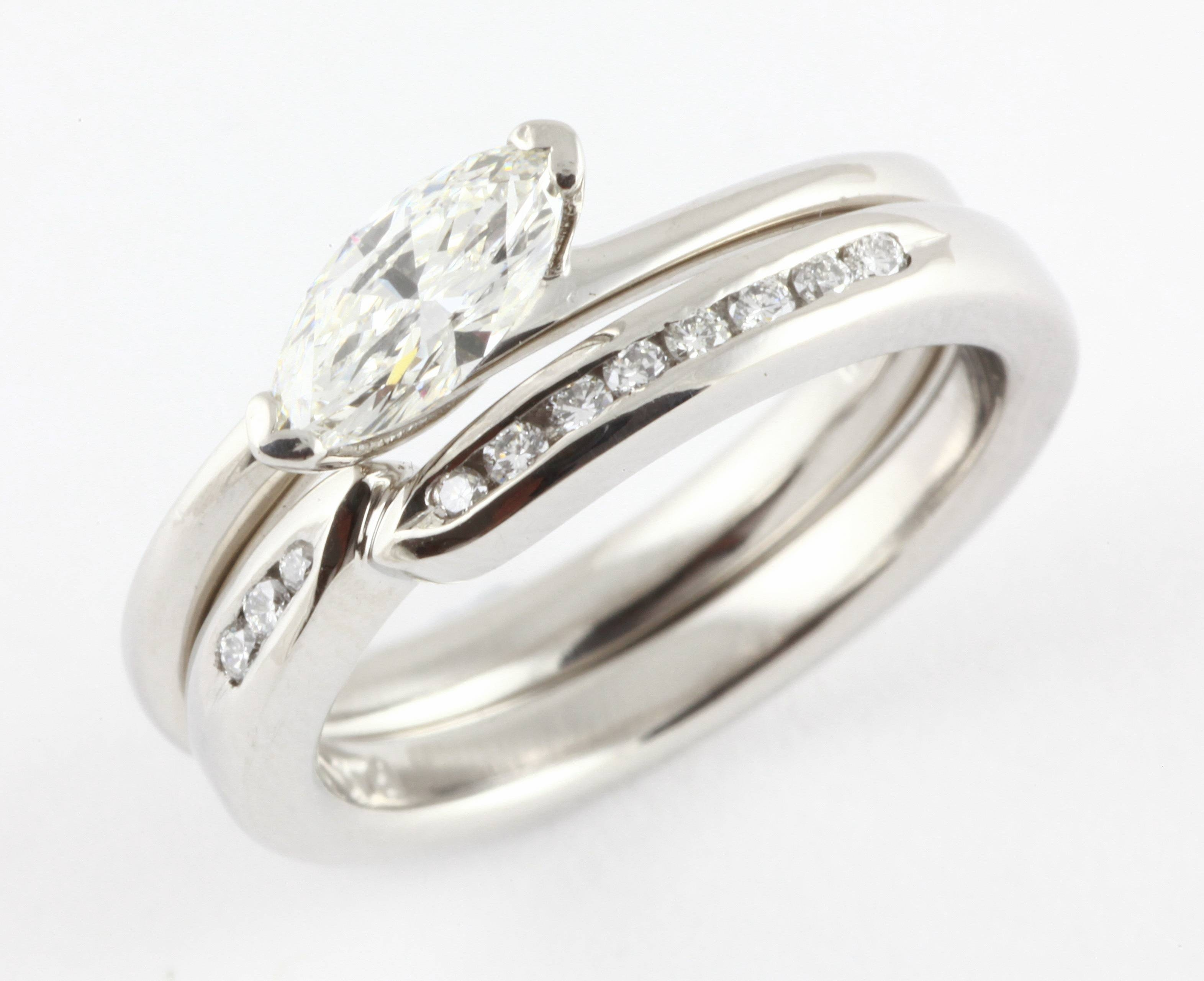 Wedding Rings : Wedding Rings To Fit Around Engagement Ring With Regard To Wedding Band That Fits Around Engagement Rings (View 14 of 15)