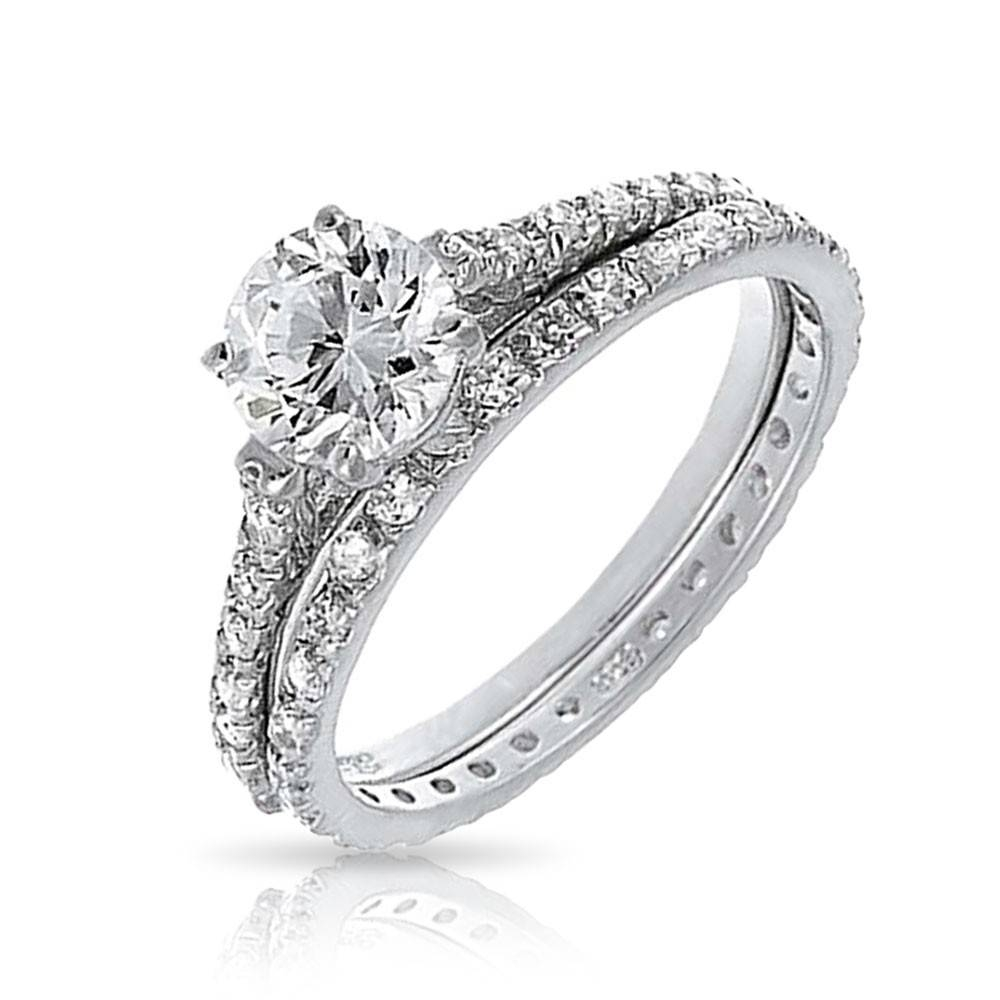Wedding Rings : Wedding Set Diamond Rings Ring Bridal Set With Engagement And Wedding Bands (View 15 of 15)