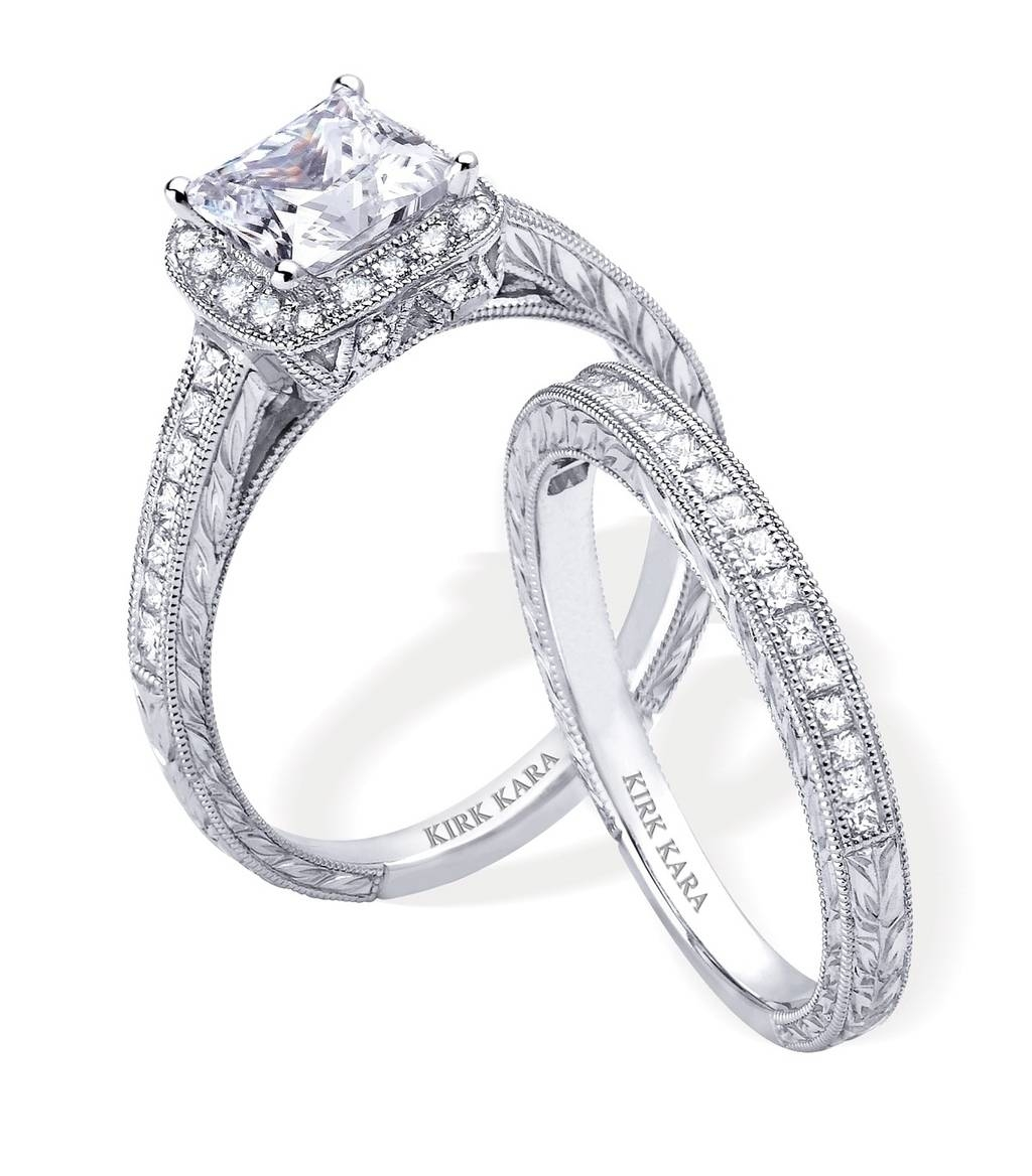 Wedding Rings : Wedding Set Princess Cut Wedding Set Bridal Set Throughout Interlocking Engagement Rings (View 15 of 15)