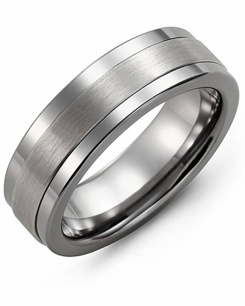 Wedding Rings : White Gold Mens Wedding Bands Design Bands' Navy Within White Gold Mens Wedding Rings (View 14 of 15)