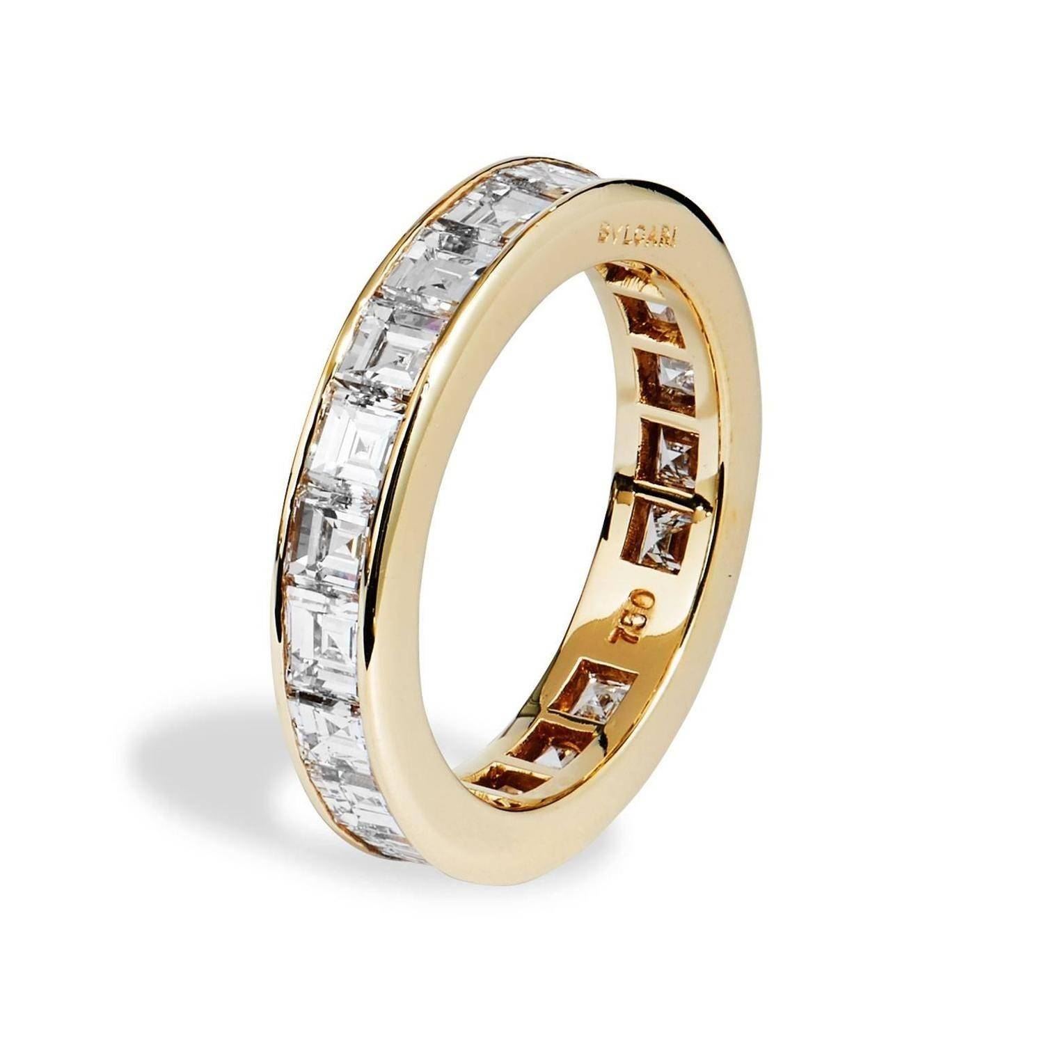 Wedding Rings With Diamonds All Around New Bulgari Carre Diamond In Wedding Bands With Diamonds All Around (View 5 of 15)