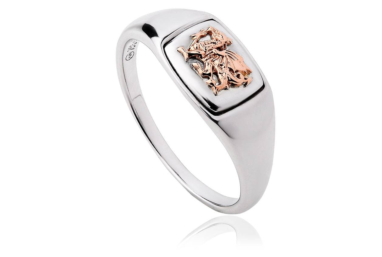 Welsh Dragon Signet Ring | Clogau Gold Within Welsh Engagement Rings (View 14 of 15)