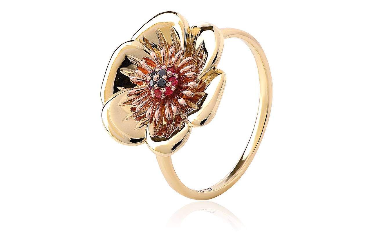 Welsh Poppy Diamond And Ruby Ring | Clogau Gold With Regard To Welsh Engagement Rings (View 14 of 15)