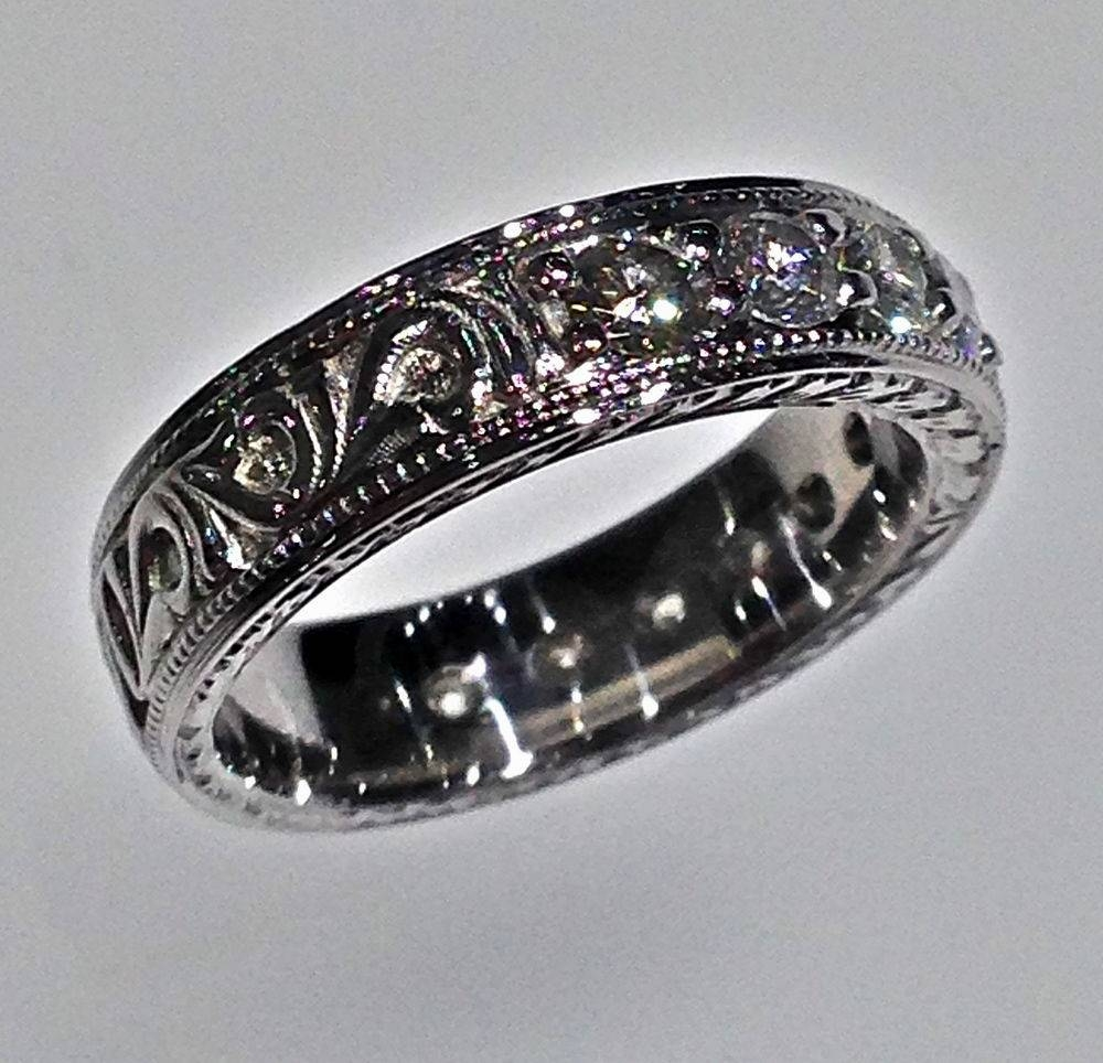 wide pin jewelry cowboy made engagement and online custom by shown band com sold cowboyjewelers rings