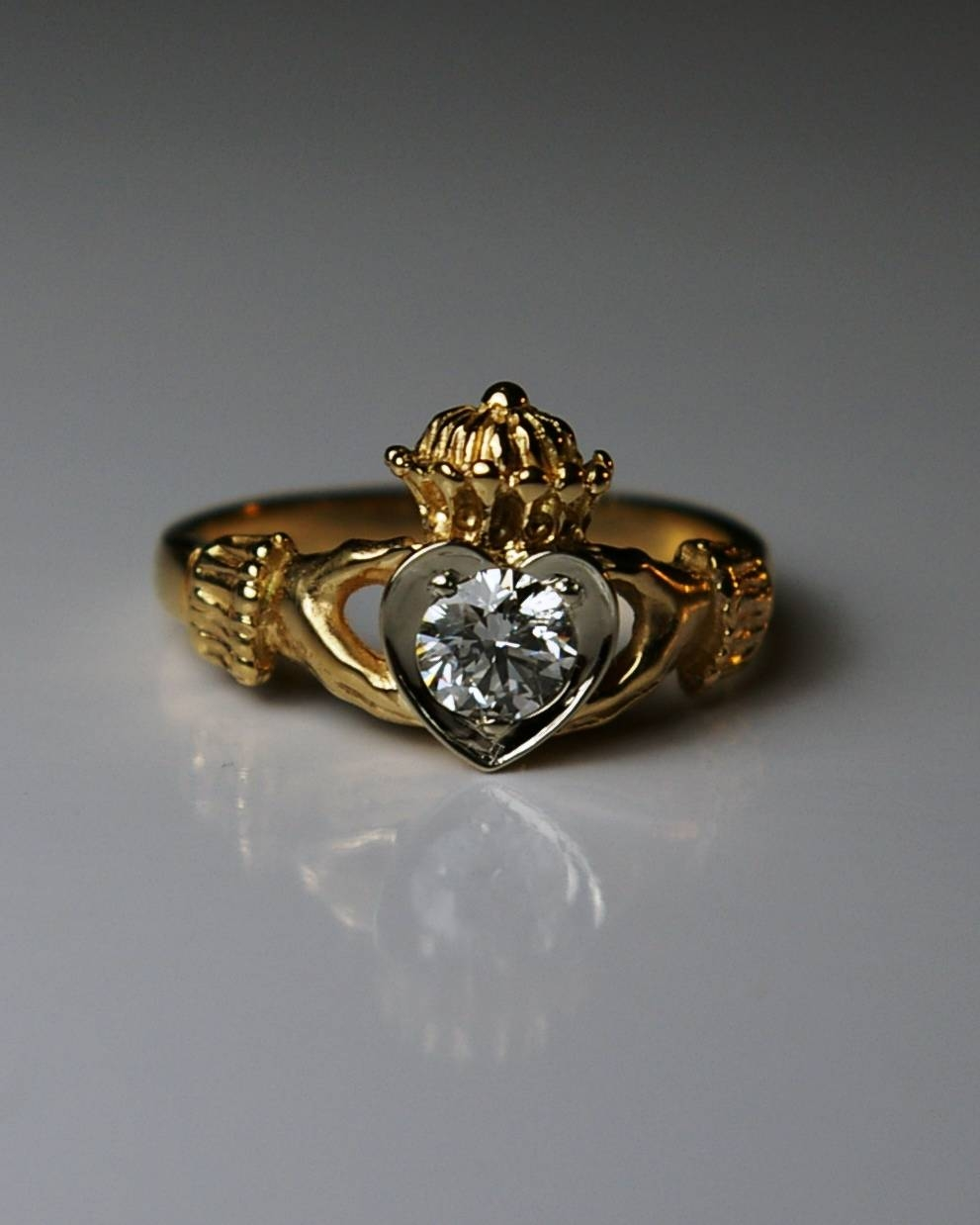 What Is A Claddagh Ring? Regarding Vintage Irish Engagement Rings (View 15 of 15)