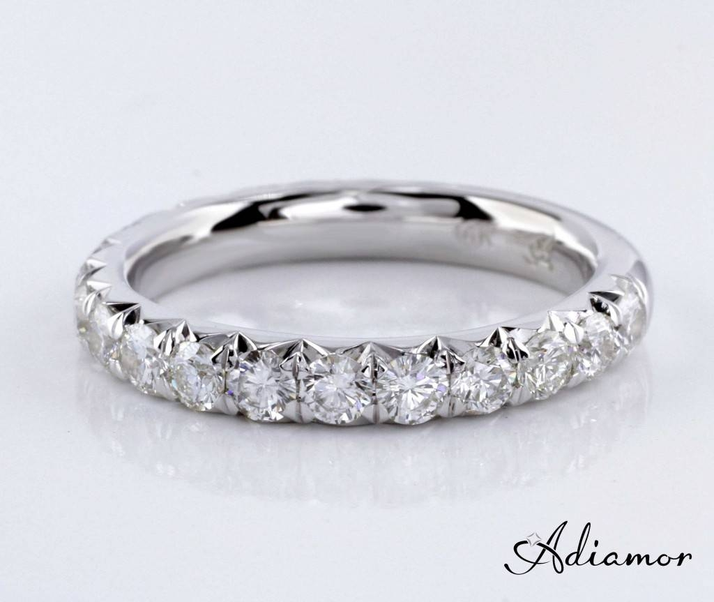 What Is French Cut Pave? | Adiamor Within French Pave Wedding Bands (Gallery 1 of 15)