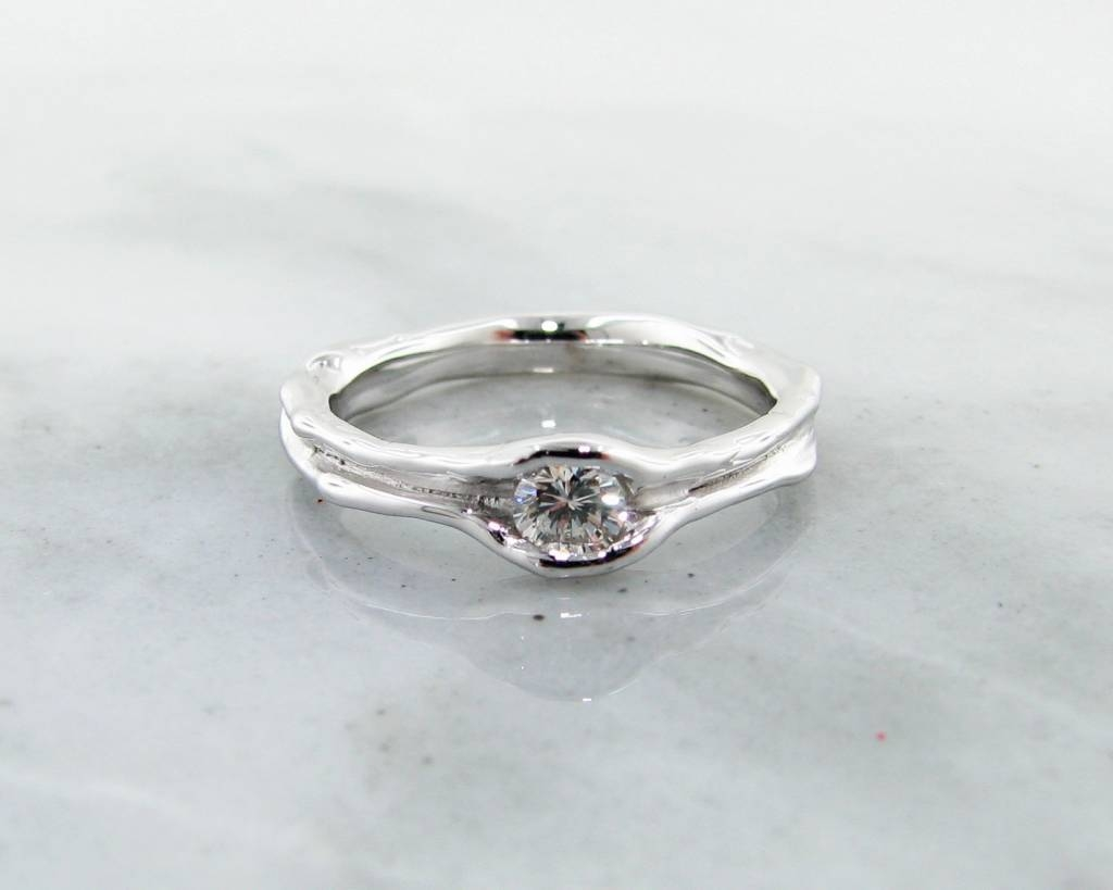 White Gold Diamond Wedding Ring Set, Fitted – Wexford Jewelers With Regard To Rustic Engagement Rings (View 14 of 15)