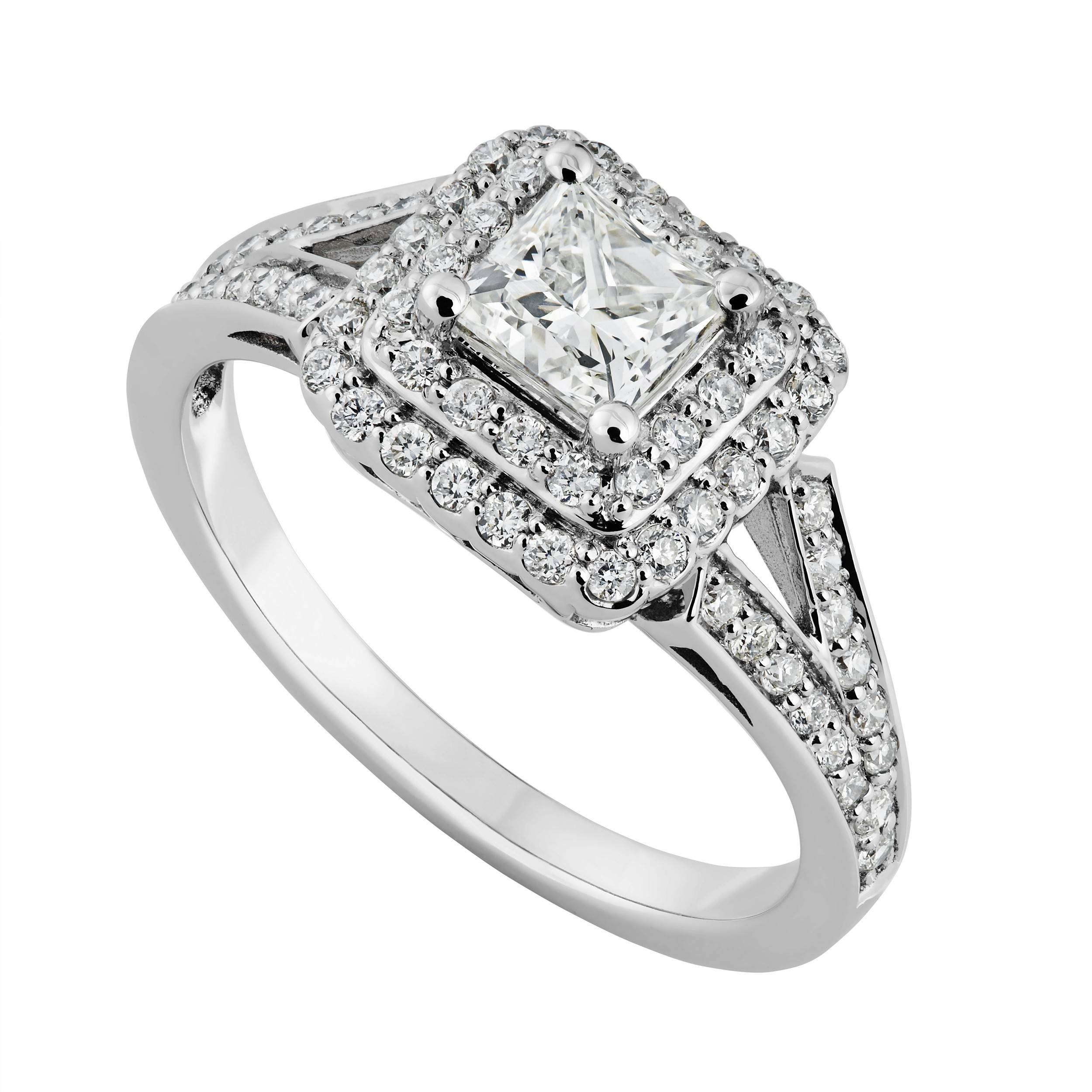 White Gold Engagement Rings Under 200 Beautiful Diamond Engagement Within Engagement Rings For Under  (View 12 of 15)