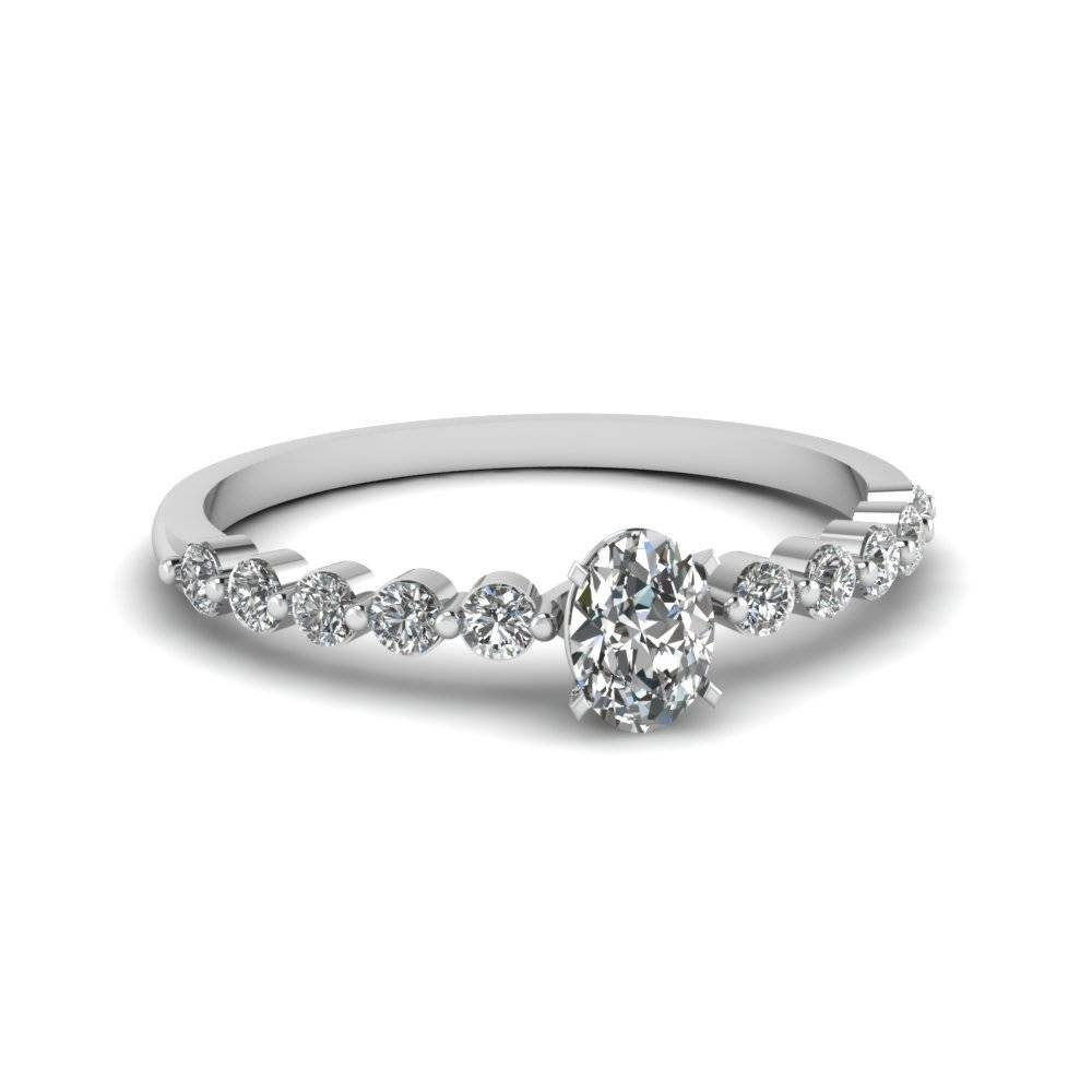White Gold Oval White Diamond Engagement Wedding Ring In Pave Set Throughout Oval Wedding Rings Sets (Gallery 9 of 15)