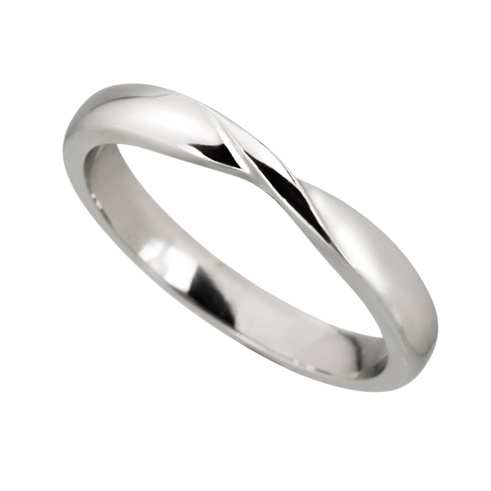 White Gold Ribbon | Wedding Ring | Mitchel & Co Regarding Twisted Wedding Bands (View 14 of 15)