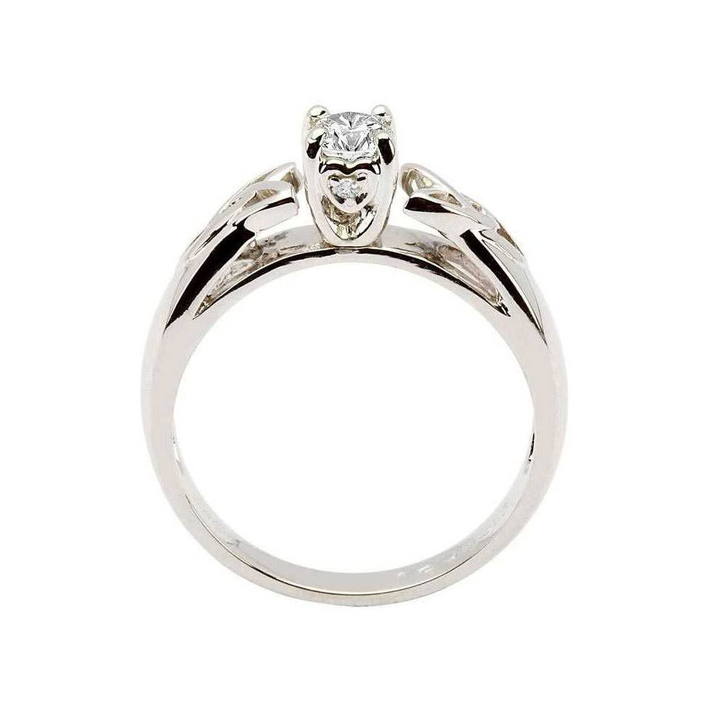 White Gold Ring, Diamond Solitaire, Trinity Knot Designshanore Throughout Trinity Knot Engagement Rings (View 2 of 15)