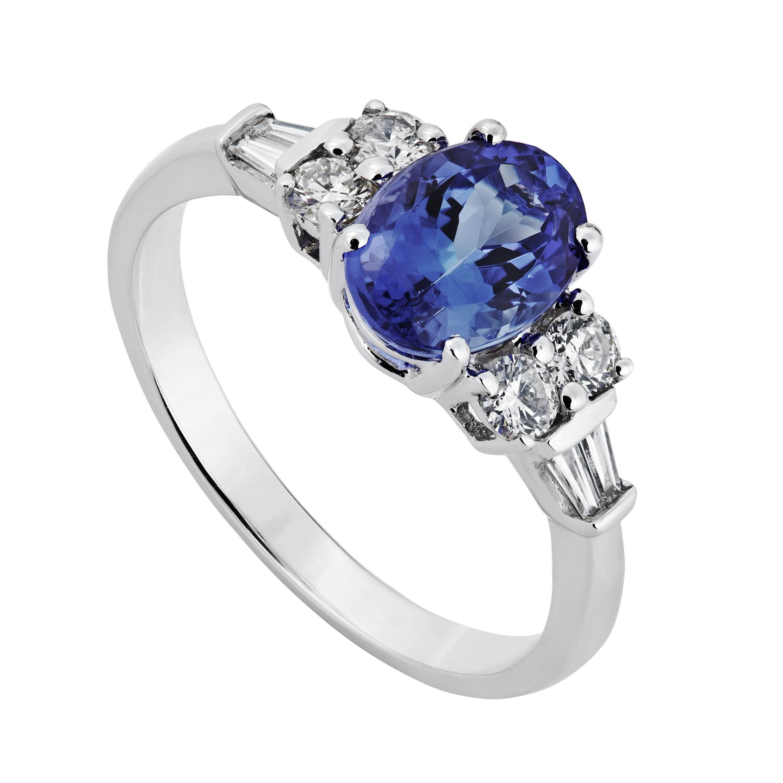 White Gold Tanzanite And  (View 14 of 15)
