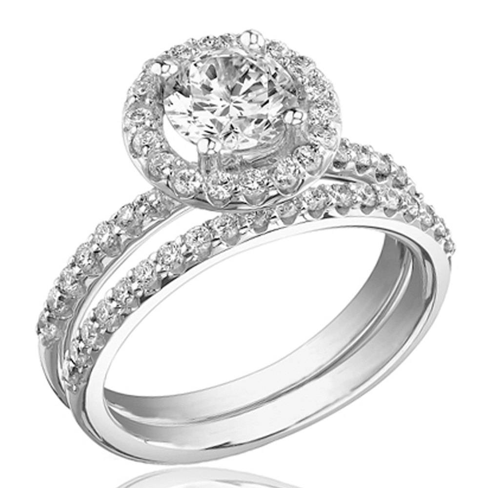 White Gold Wedding Rings For Women | Wedding, Promise, Diamond Within White Gold And Diamond Wedding Rings (View 9 of 15)
