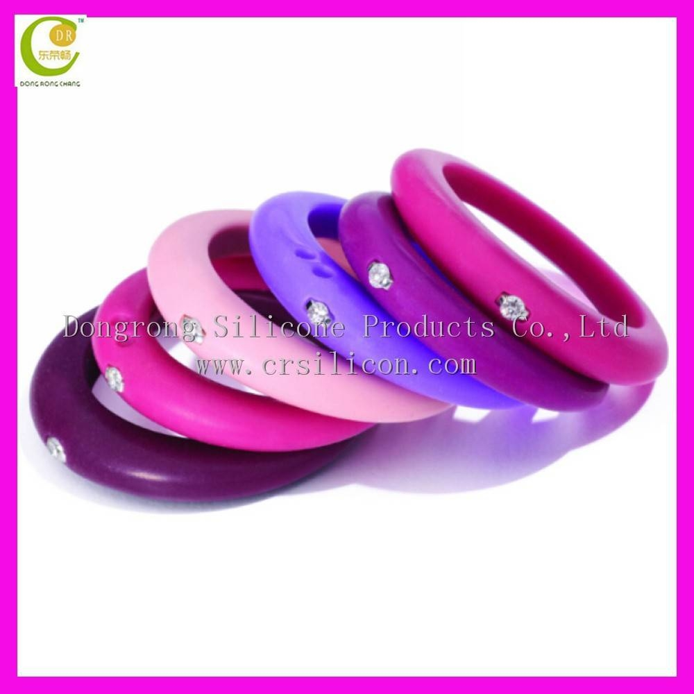 Wholesale Embossed Customized Colorful Silicone Wedding Ring With Intended For Plastic Wedding Bands (View 15 of 15)