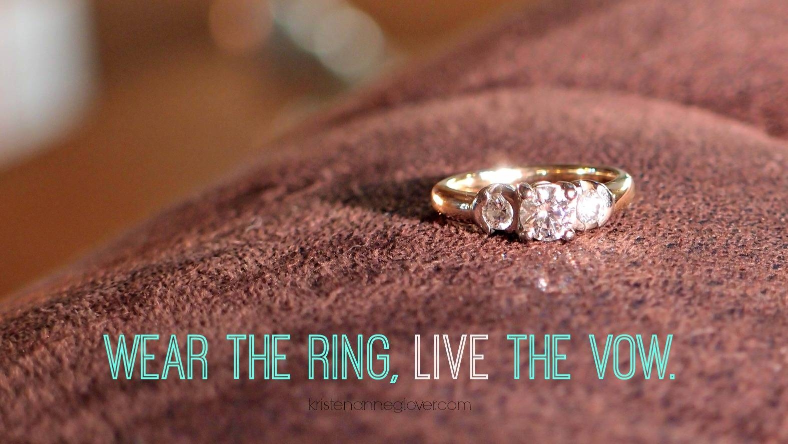 Why I Stopped Wearing My Wedding Ring – Kristen Anne Glover With Regard To The Vow Wedding Rings (View 10 of 15)