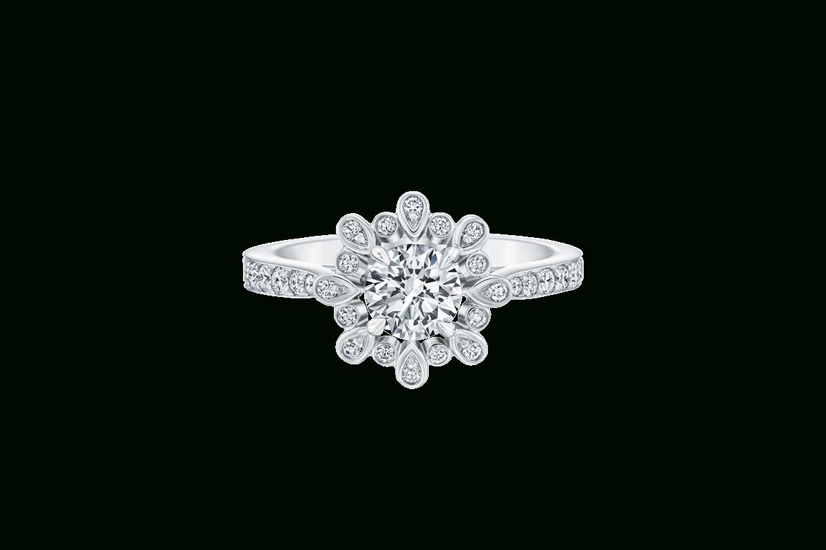 Winston Blossom Engagement Ring | Harry Winston With Harry Winston Engagement Rings (View 1 of 15)