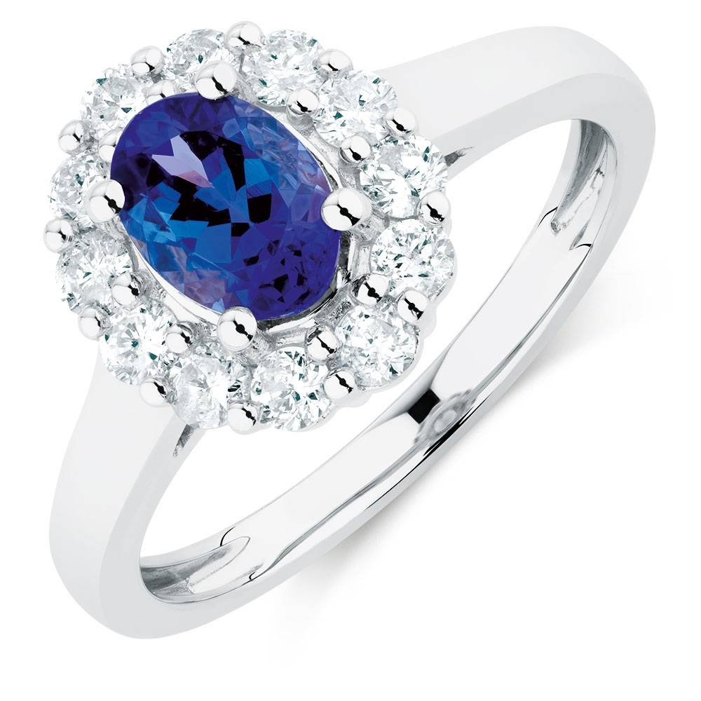 With Tanzanite & 1/2 Carat Tw Of Diamonds In 10Kt White Gold With Tanzanite Engagement Rings With White Gold (View 15 of 15)