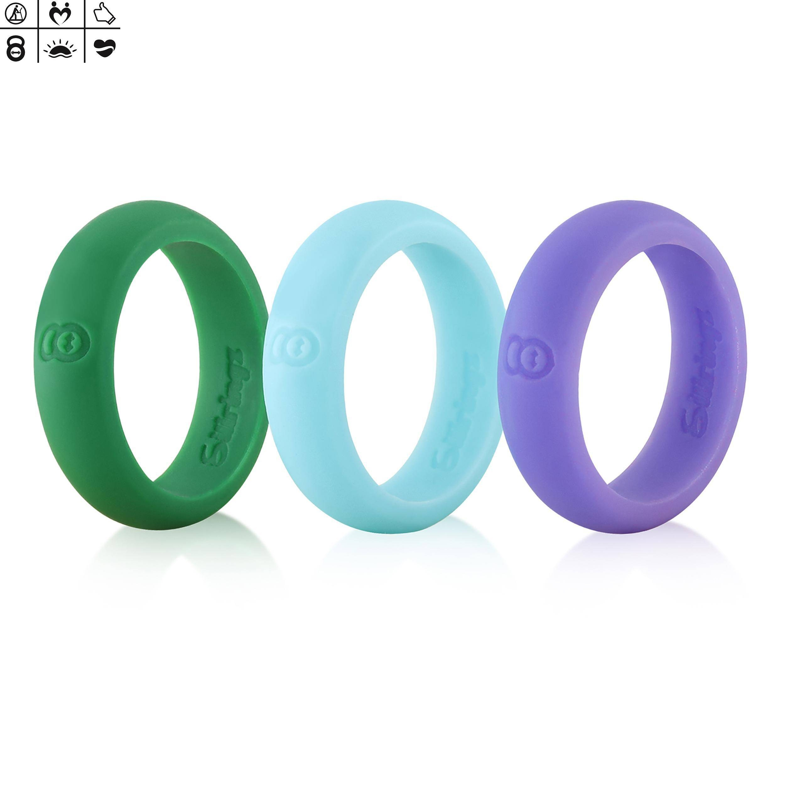 Women's Silicone Wedding Rings | Wedding Bands For Nurses Throughout Wedding Bands For Nurses (View 15 of 15)