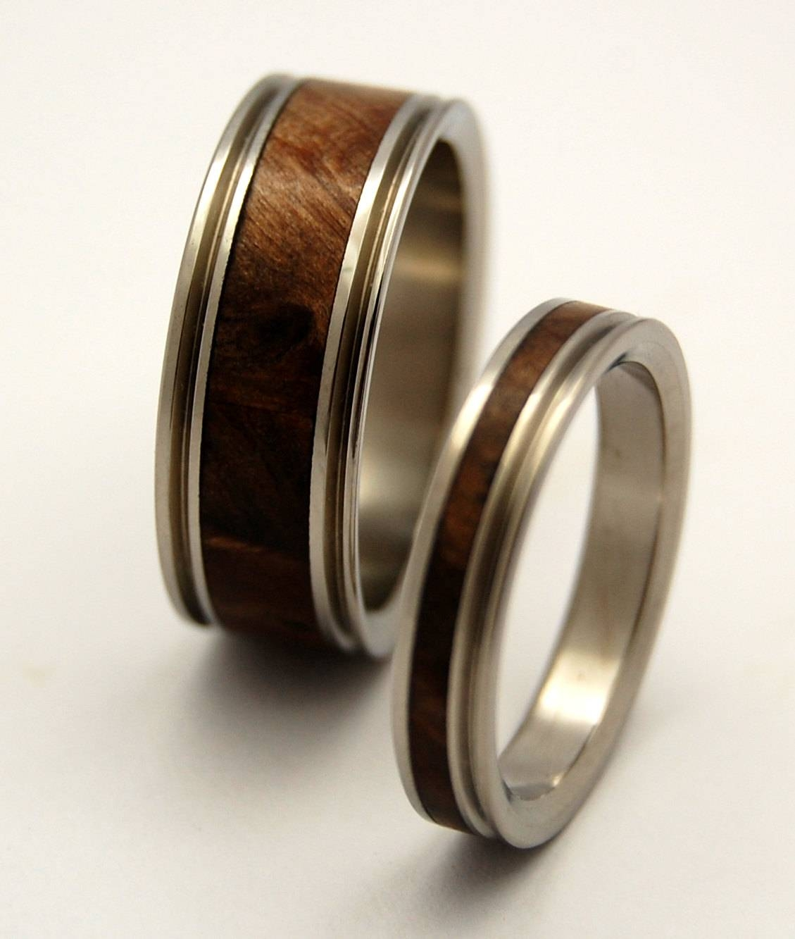 Wooden Wedding Rings Titanium Ring Titanium Wedding Rings In Mens Wooden  Wedding Bands (Gallery 13