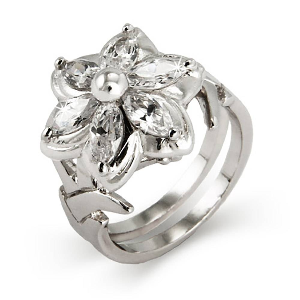 World Elf Cz Flower Ring | Eve's Addiction Regarding Elven Engagement Rings (View 15 of 15)