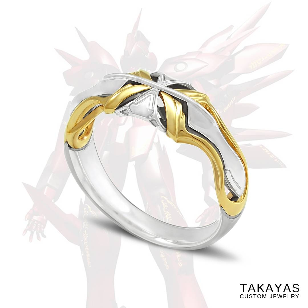 Xenogears Fei And Elly Inspired Mech Wedding Rings — Takayas In Anime Wedding Rings (View 4 of 15)