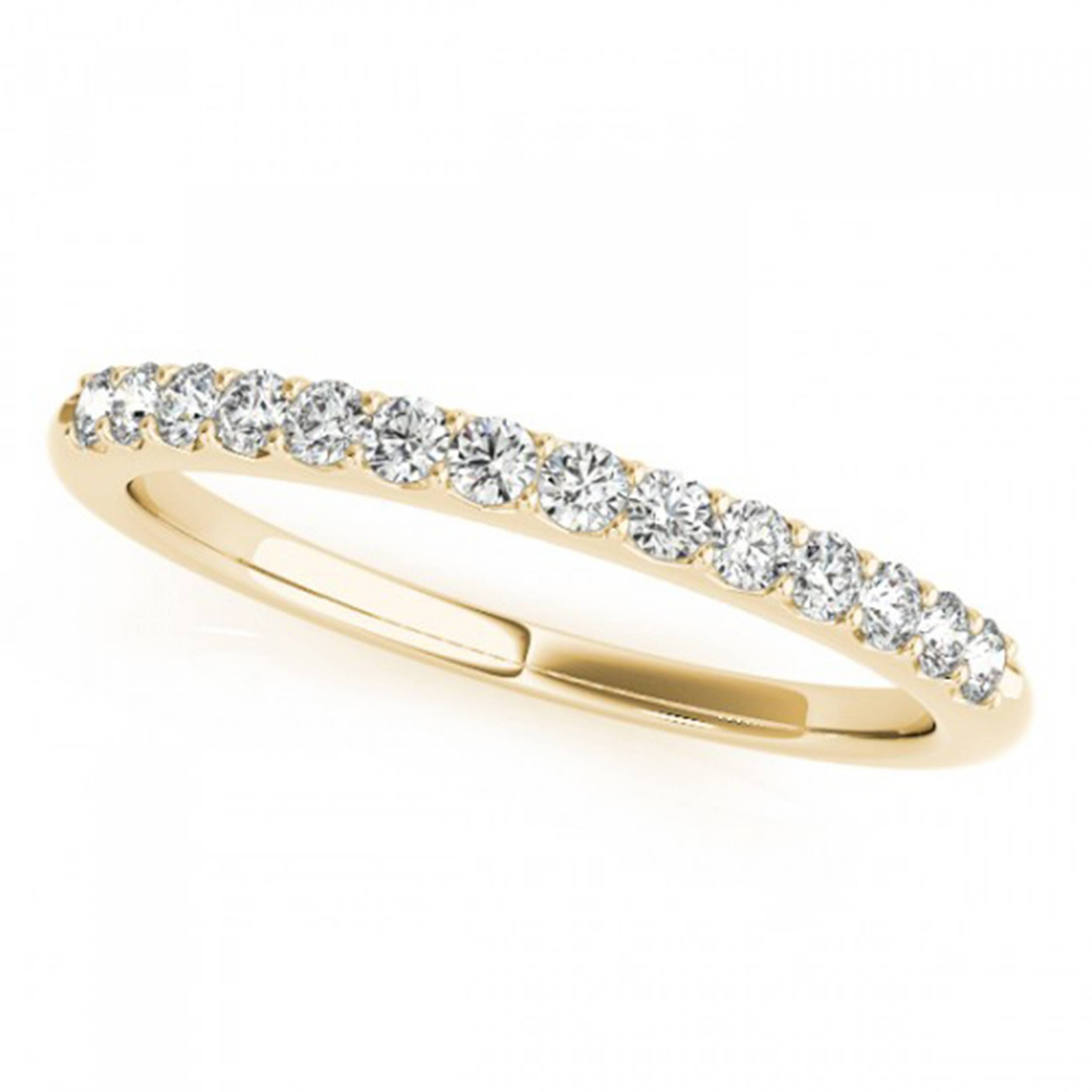 Yellow Gold Petite Pave Diamond Wedding Band In Pave Diamond Wedding Rings (Gallery 10 of 15)