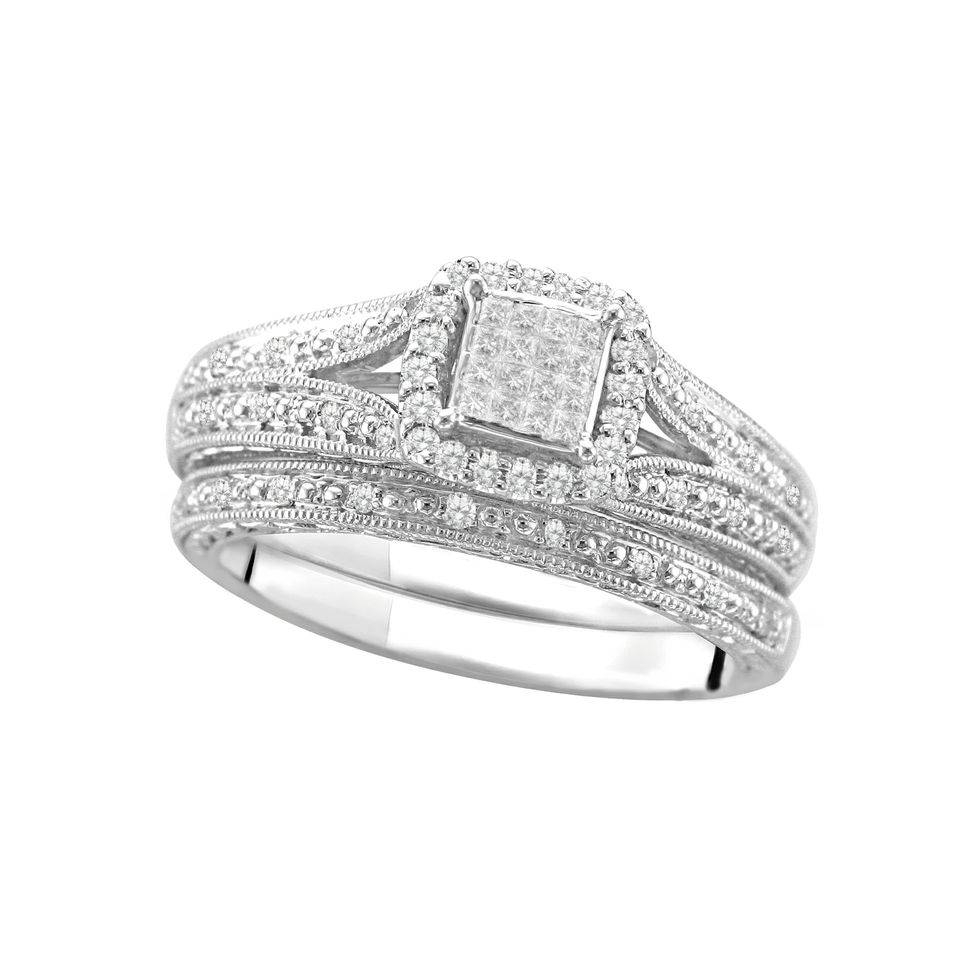 You Oughta Know: Walmart Has Engagement Rings For $58 (Seriously!) For Walmart White Gold Wedding Bands (Gallery 1 of 15)