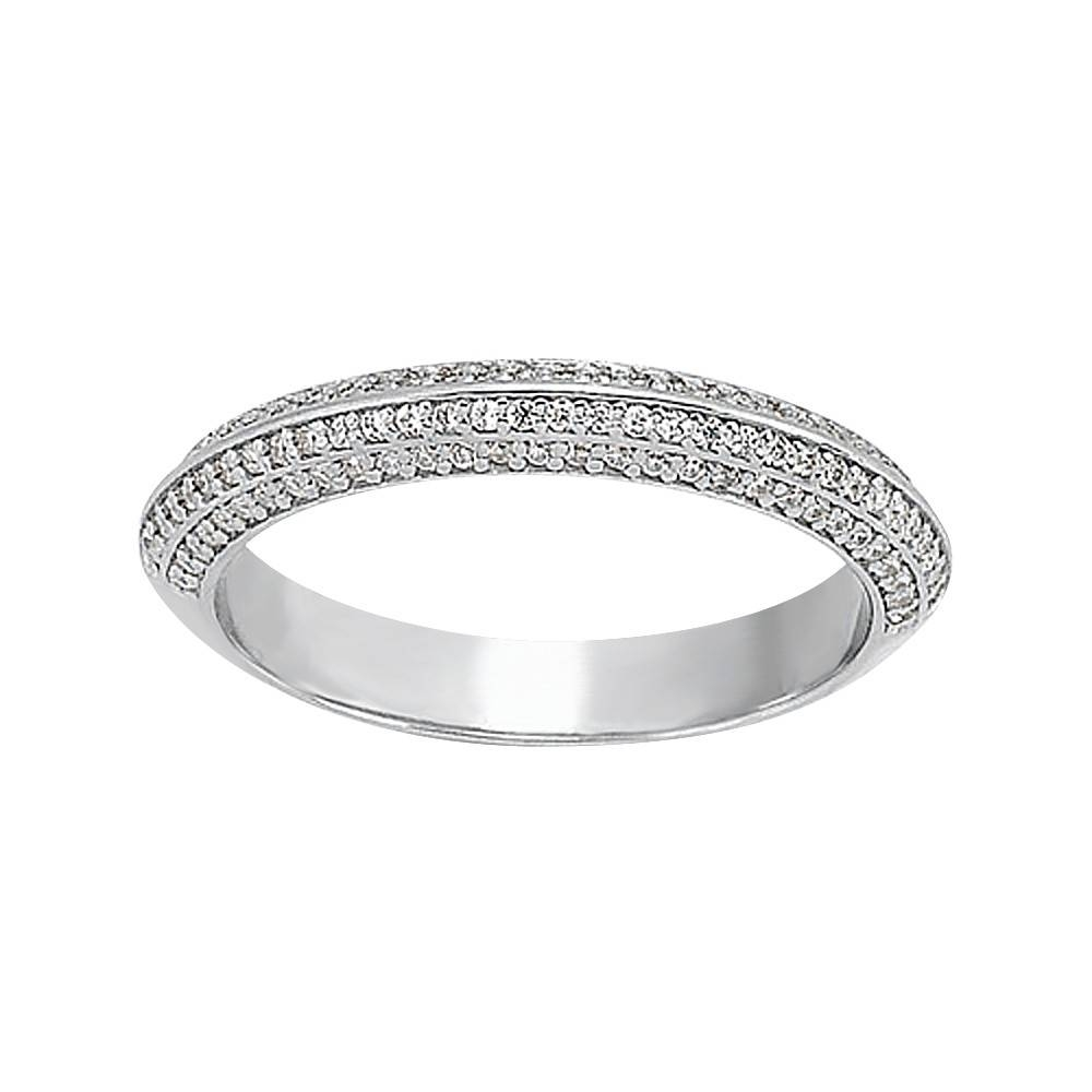 0.32 Tcw Knife Edge Pave Set Diamond Wedding Band In Newest Pave Setting Wedding Bands (Gallery 2 of 15)