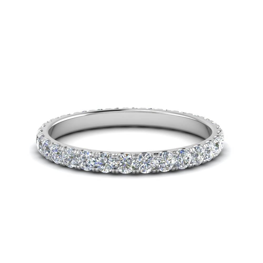 0.75 Ct. Round Eternity Diamond Wedding Band In 14K White Gold Intended For Latest Diamond Eternity Wedding Bands (Gallery 5 of 15)