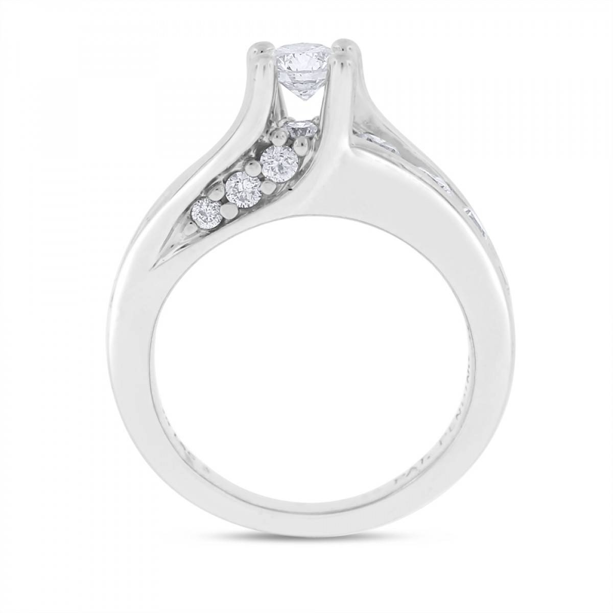 1.53 Ct. Natural Floating Diamond Engagement Ring Solid 14K White Gold For Floating Diamond Engagement Rings (Gallery 1 of 15)