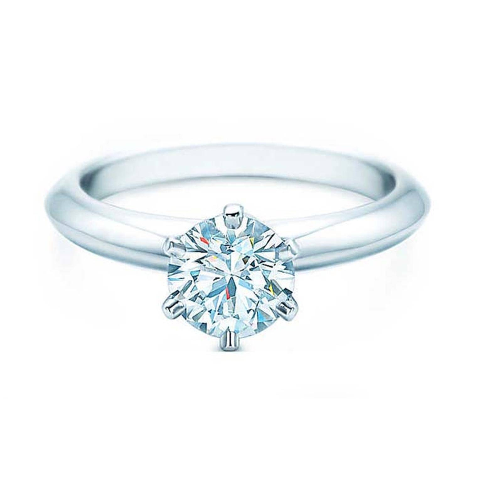 1 Carat Diamond Tiffany Setting Engagement Ring | Tiffany & Co Pertaining To Recent One Carat Diamond Wedding Bands (View 3 of 15)