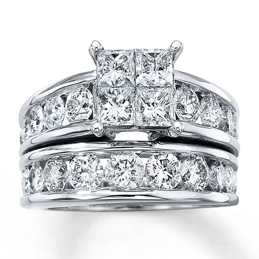 1 Carat Engagement Ring Tags : White Gold Diamond Wedding Ring Inside Inexpensive Diamond Wedding Ring Sets (View 1 of 15)