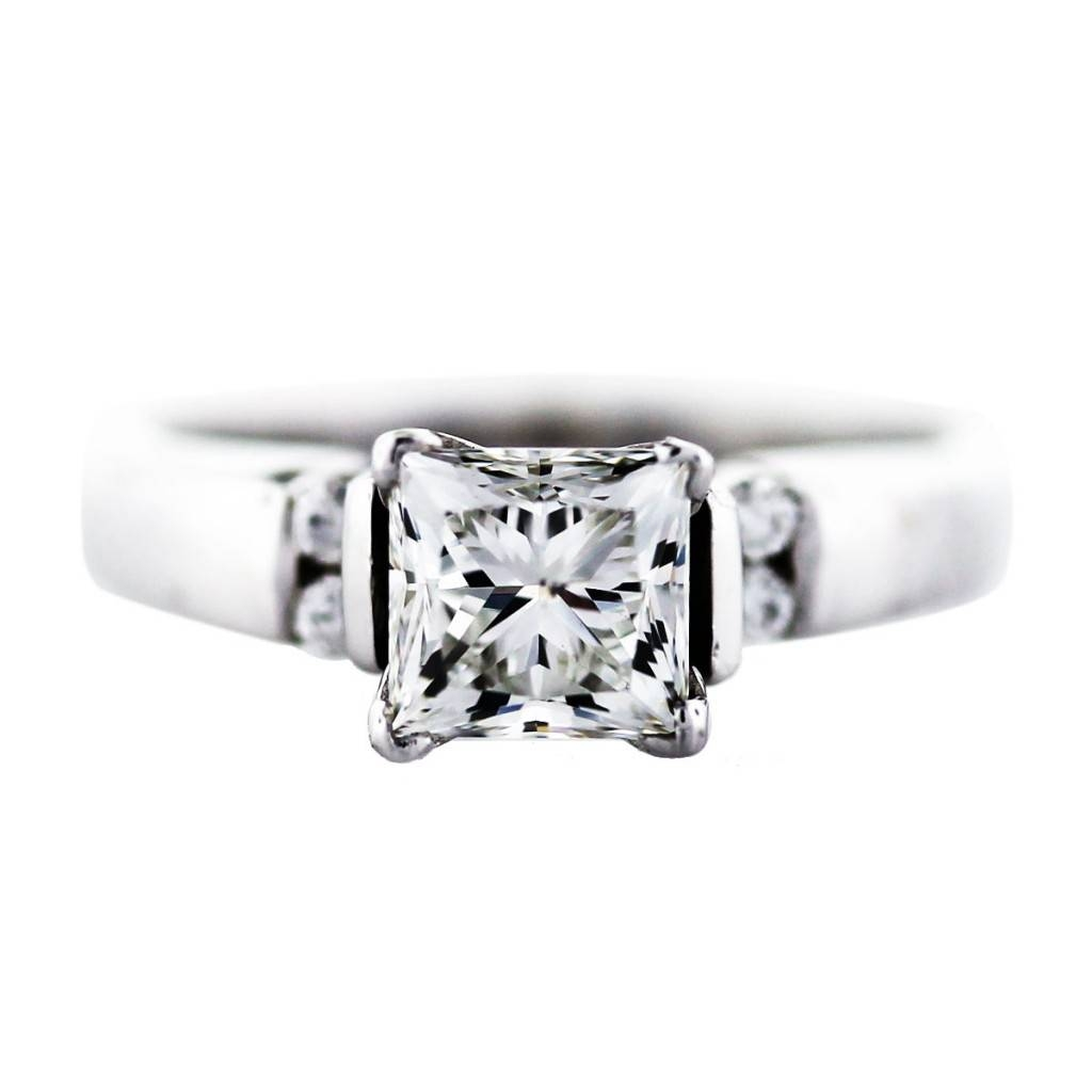 1 Carat Princess Cut Diamond Engagement Ring Boca Raton For Boca Raton Engagement Rings (View 1 of 15)