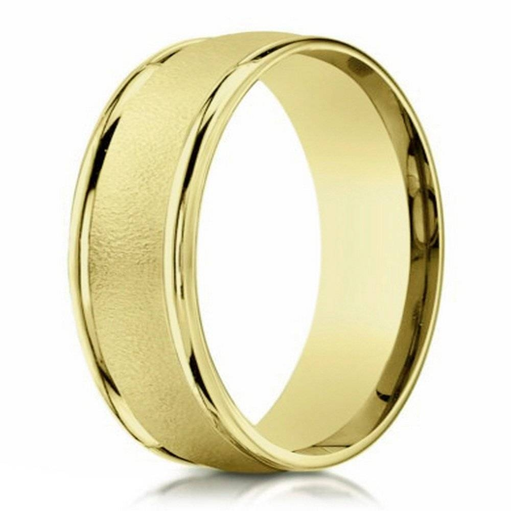 10K Designer Gold Wedding Band For Men| 6Mm Width Within Men Yellow Gold Wedding Bands (View 3 of 15)