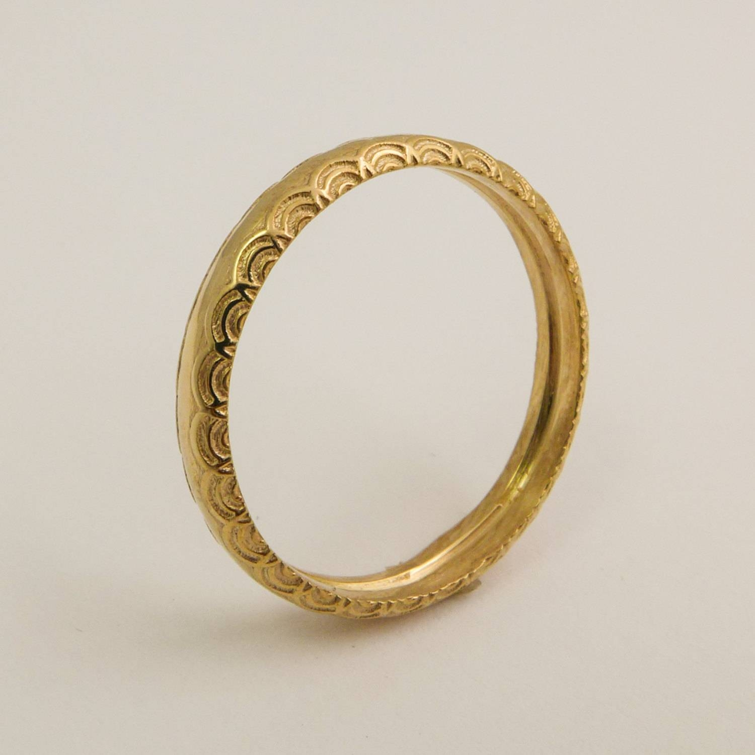 14 Karat Gold Simple Wedding Ring For Women Gold Ring With In 14 Carat Gold Wedding Bands (View 12 of 15)