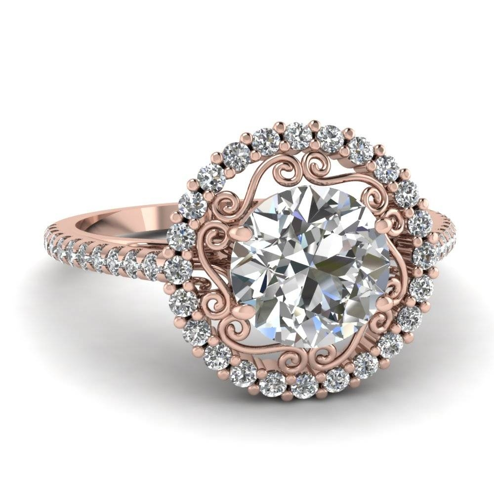 14K Rose Gold Engagement Rings | Fascinating Diamonds In Buy Diamond Engagement Rings Online (View 1 of 15)