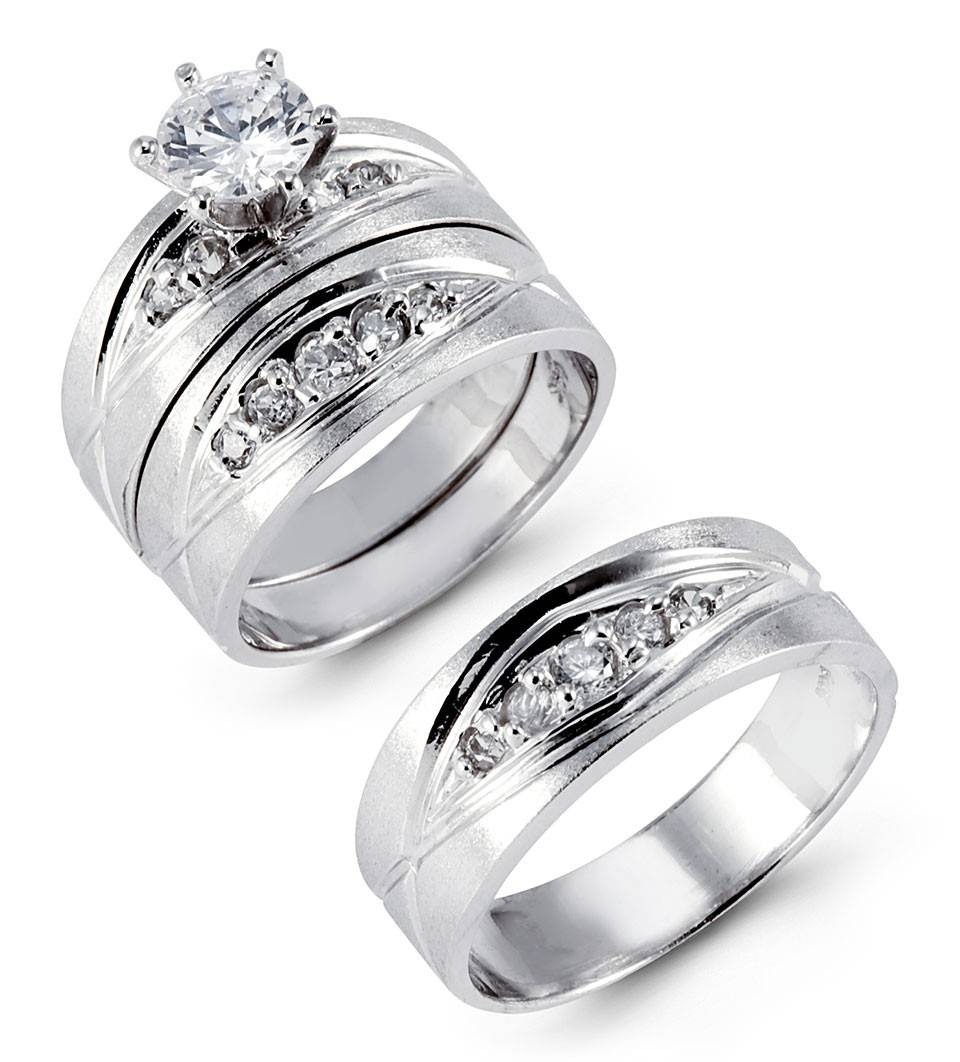 Featured Photo of Thick White Gold Wedding Bands