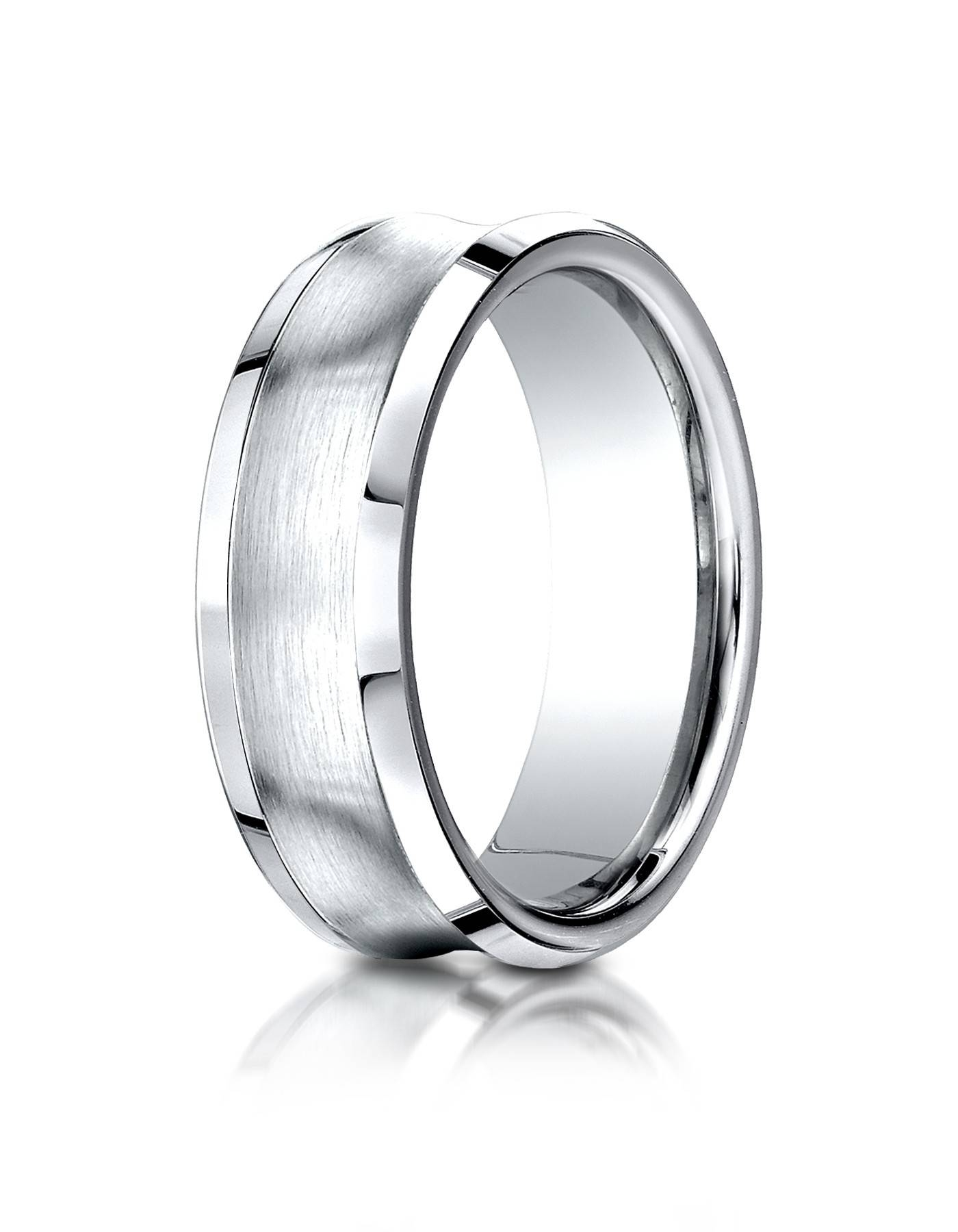 14K White Gold Men's Wedding Band  (View 1 of 15)