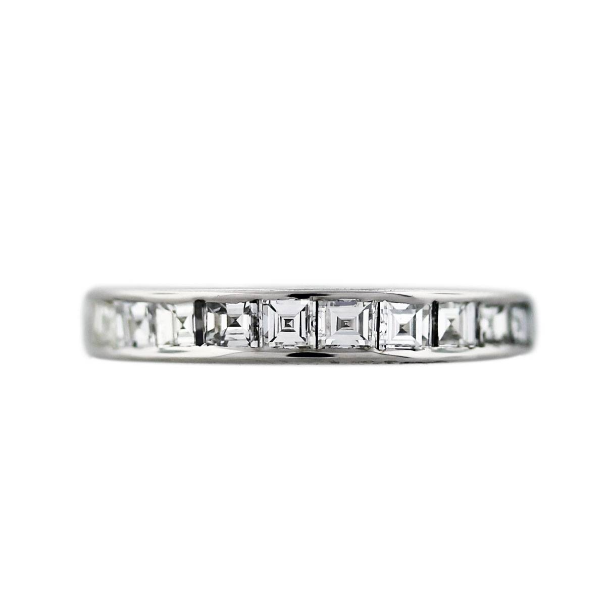 14K White Gold Square Step Cut Diamond Wedding Band Ring Within 2018 Diamonds Wedding Bands (View 2 of 15)